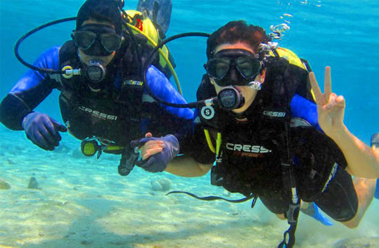 Diving tour for amateurs